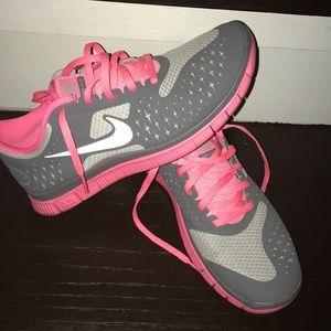 Pink Nike Free Runs Size 7.5